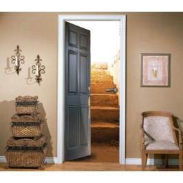 Dveře na schody (92 × 210 cm) -  Živá dekorace na dveře