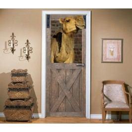 Velbloudí stáj (92 × 210 cm) -  Živá dekorace na dveře