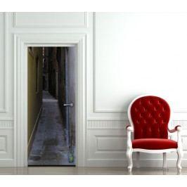 Ulička (92 × 210 cm) -  Živá dekorace na dveře