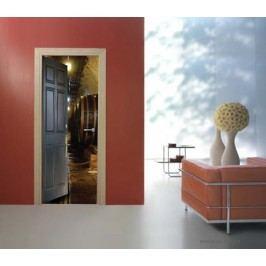 Sudy vína (92 × 210 cm) -  Živá dekorace na dveře