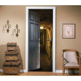 Vstup do podzemí (92 × 210 cm) -  Živá dekorace na dveře