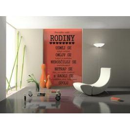 Pravidla naší rodiny (194 x 98 cm) -  Citát samolepka na zeď