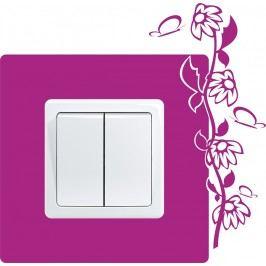 Květiny 6 (17 x 18 cm) -  Samolepka na vypínač