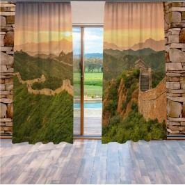 Čínská zeď (140 x 250 cm) -  Dekorační závěs