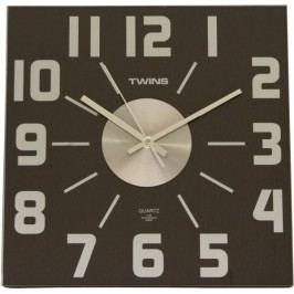 Nástěnné hodiny Twins 468 wenge 32cm