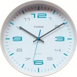 Nástěnné hodiny Twins 10512 white 30cm