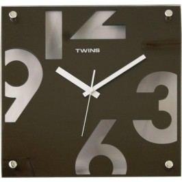 Nástěnné hodiny Twins 5080 brown 30cm