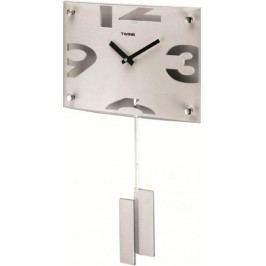 Nástěnné kyvadlové hodiny Twins 5090 white 30cm