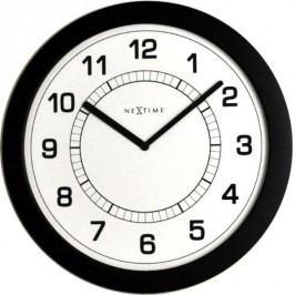 Designové nástěnné hodiny 3045zw Nextime Super slim 28cm