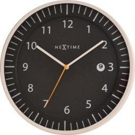 Designové nástěnné hodiny 3058zw Nextime Quick 35cm