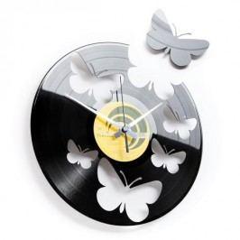 Designové nástěnné hodiny Discoclock 056 Motýli 30cm