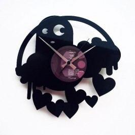 Designové nástěnné hodiny Discoclock 061 Strašidlo lásky 30cm