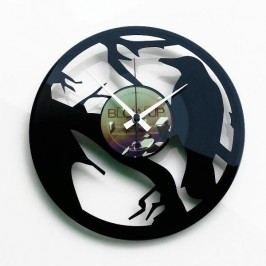 Designové nástěnné hodiny Discoclock 066 Vrána 30cm