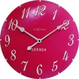 Designové nástěnné hodiny 3084rz Nextime v aglickém retro stylu 35cm