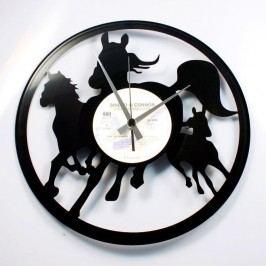Designové nástěnné hodiny Discoclock 074 Divocí koně 30cm