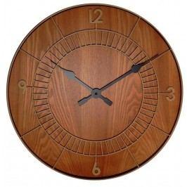 Designové nástěnné hodiny 3113br Nextime Wood Round 50cm