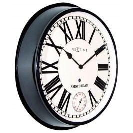 Designové nástěnné hodiny 3128zw Nextime Amsterdam 52cm