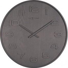 Designové nástěnné hodiny 3096gs Nextime Wood Wood Medium 35cm