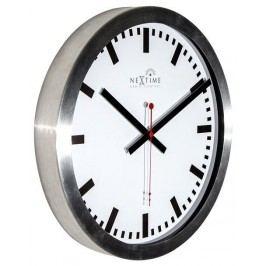 Designové nástěnné hodiny řízené signálem DCF 3999strc Nextime Station Stripe 35cm
