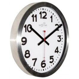 Designové nástěnné hodiny řízené signálem DCF 3999arrc Nextime Station Number 35cm