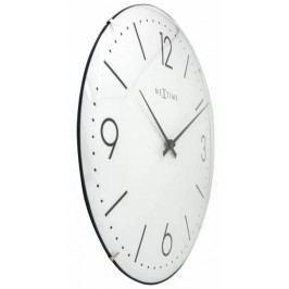 Designové nástěnné hodiny 3157wi Nextime Basic Dome 35cm