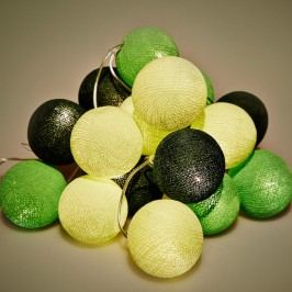 BallDesign Green salamander (sada 20 balónků) -  Svíticí bavlněné koule