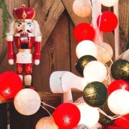 BallDesign Vánoční klasika (sada 20 balónků) -  Svíticí bavlněné koule