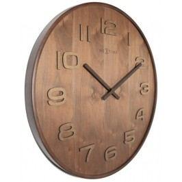 Designové nástěnné hodiny 3096br Nextime Wood Wood Medium 35cm