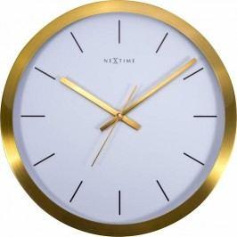 Designové nástěnné hodiny 2524gw Nextime Stripe Golg White 45cm