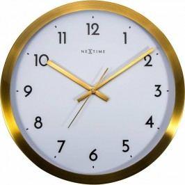 Designové nástěnné hodiny 2523gw Nextime Arabic Golg White 45cm