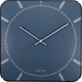 Designové nástěnné hodiny 3172 Nextime Michael Dome Blue 35cm