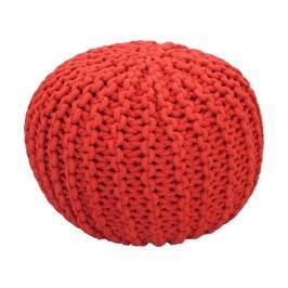 CrazyShop Pletený puf Crazyshop SOLID Mini, červený - ručně pletený