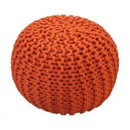 CrazyShop Pletený puf Crazyshop SOLID Mini, oranžový - ručně pletený