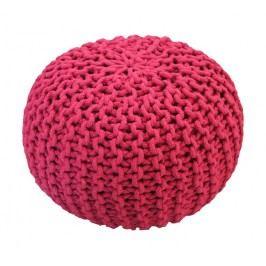 CrazyShop Pletený puf Crazyshop SOLID Mini, růžový - ručně pletený