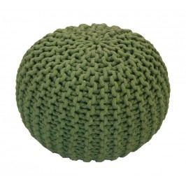 CrazyShop Pletený puf Crazyshop SOLID Mini, zelený - ručně pletený