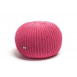Justin Design Pletený puf velký růžový