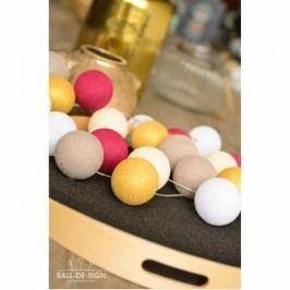 BallDesign Glamour light (sada 20 balónků) -  Svíticí bavlněné koule