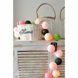 BallDesign Bed of peonies (sada 20 balónků) -  Svíticí bavlněné koule