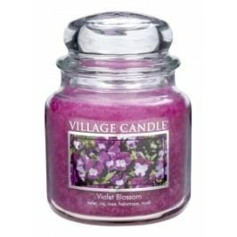Village Candle Villafe Candle vonná svíčka ve skle FIALKY - VIOLET BLOSSOM 397 g