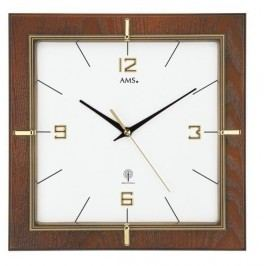 Nástěnné hodiny 5834 AMS řízené rádiovým signálem 29cm