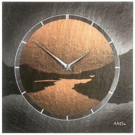Designové nástěnné břidlicové hodiny 9513 AMS 30cm