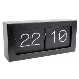 Designové nástěnné/stolní překlápěcí hodiny 5642BK Karlsson 37cm