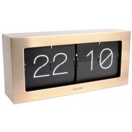 Designové nástěnné/stolní překlápěcí hodiny 5642GD Karlsson 37cm