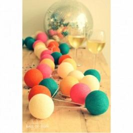 BallDesign Cosmopolitan (sada 20 balónků) -  Svítící bavlněné koule
