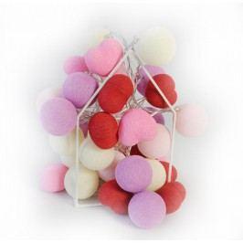 BallDesign Happy Birthday Girl (sada 20 balónků) -  Svítící bavlněné koule