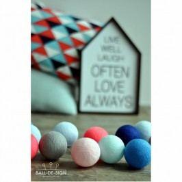 BallDesign Life is beautiful (sada 20 balónků) -  Svítící bavlněné koule