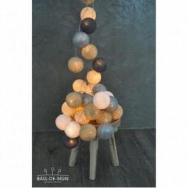 BallDesign Silverwood (sada 20 balónků) -  Svítící bavlněné koule