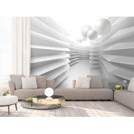 Murando DeLuxe 3D tapeta bílé bludiště 150x105 cm