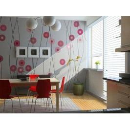 Murando DeLuxe Růžový déšť 150x116 cm