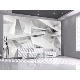 Murando DeLuxe 3D abstraktní tapeta šedá 150x105 cm